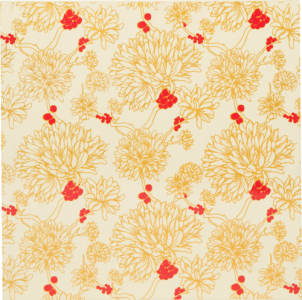Cát Tường Sơn Mài Hoa Pattern